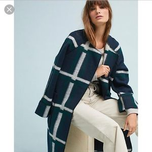 Anthropologie Plaid Coat